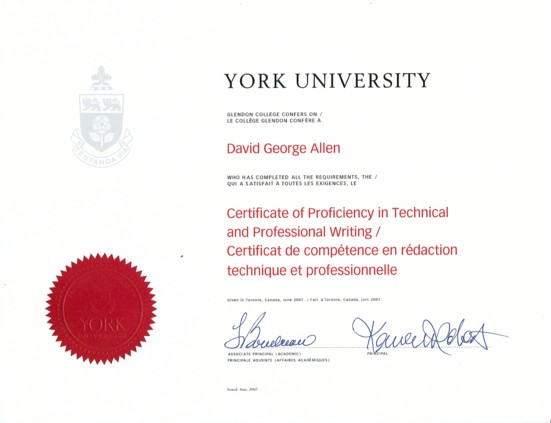 Technical writing certifications